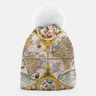 Thumbnail image of ORBIS TERRA RVM Old-Cartographic Map Beanie, Live Heroes