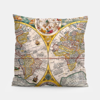 Thumbnail image of ORBIS TERRA RVM Old-Cartographic Map Pillow, Live Heroes
