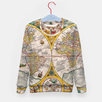 Thumbnail image of ORBIS TERRA RVM Old-Cartographic Map Kid's Sweater, Live Heroes
