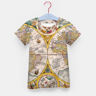 Thumbnail image of ORBIS TERRA RVM Old-Cartographic Map Kid's T-shirt, Live Heroes