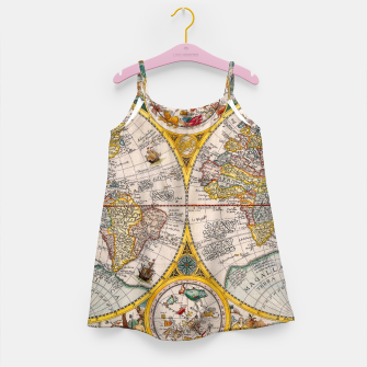 Thumbnail image of ORBIS TERRA RVM Old-Cartographic Map Girl's Dress, Live Heroes