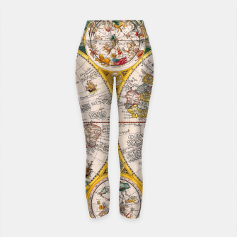 Thumbnail image of ORBIS TERRA RVM Old-Cartographic Map Yoga Pants, Live Heroes