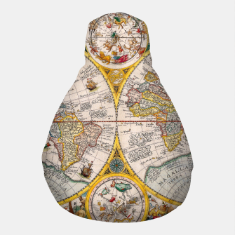 Thumbnail image of ORBIS TERRA RVM Old-Cartographic Map Pouf, Live Heroes