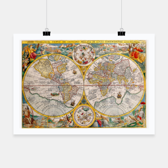 Thumbnail image of ORBIS TERRA RVM Old-Cartographic Map Poster, Live Heroes