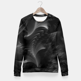 Thumbnail image of Taidushan Swirls Fractal Abstract Fitted Waist Sweater, Live Heroes