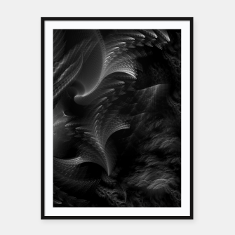 Thumbnail image of Taidushan Swirls Fractal Abstract Framed poster, Live Heroes
