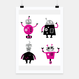 Thumbnail image of Poster for Kids Rooms : Robots wonderful Colorful edition, Live Heroes