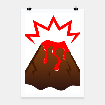 Thumbnail image of Poster with Red Lava painted Edition, Live Heroes