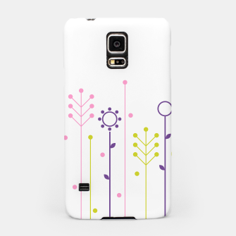 Thumbnail image of Samsung folk flowers Case : Pink purple on white, Live Heroes