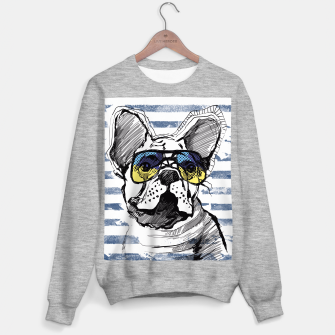 Miniaturka French Bulldog with stripes Sweater regular, Live Heroes
