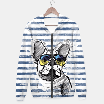 Imagen en miniatura de French Bulldog with stripes Hoodie, Live Heroes