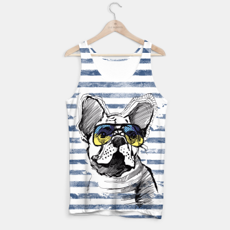 Imagen en miniatura de French Bulldog with stripes Tank Top, Live Heroes