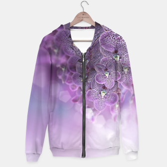 Thumbnail image of Violet Orchids Hoodie, Live Heroes