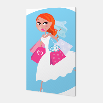 Thumbnail image of Canvas with Wedding girl blue white, Live Heroes