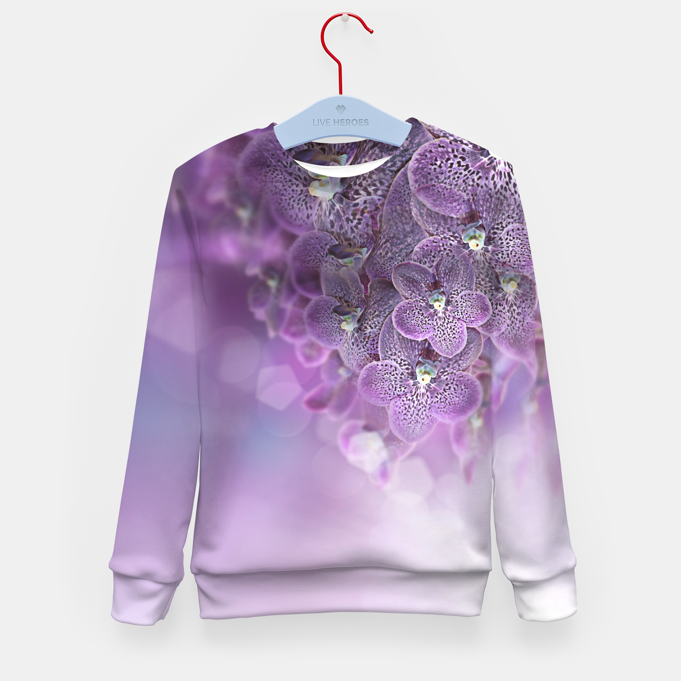 Image of Violet Orchids Kid's Sweater - Live Heroes