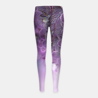 Thumbnail image of Violet Orchids Girl's Leggings, Live Heroes