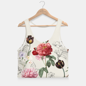 Miniaturka Flowers Crop Top, Live Heroes