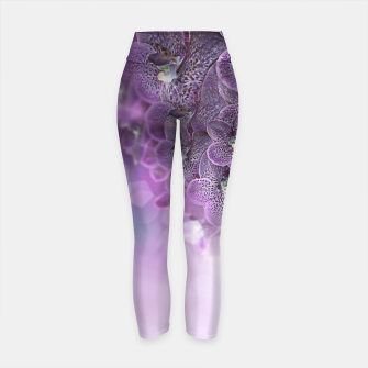 Thumbnail image of Violet Orchids Yoga Pants, Live Heroes