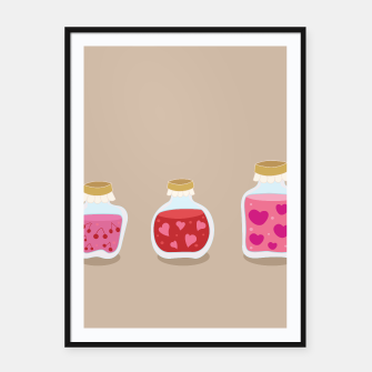 Thumbnail image of Framed Art poster with Cherries Love Jams, Live Heroes