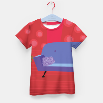 Thumbnail image of Kids artistic T-Shirt with handpainted LIVINGROOM RED, Live Heroes