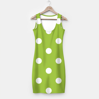 Thumbnail image of Simple artistic MINIDRESS GREEN WITH DOTS WHITE, Live Heroes