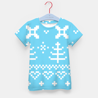 Thumbnail image of KIDS T-SHIRT : BLUE WHITE NORDIC Collection, Live Heroes