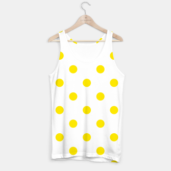 Thumbnail image of Tank Top with Yellow dots on white, Live Heroes