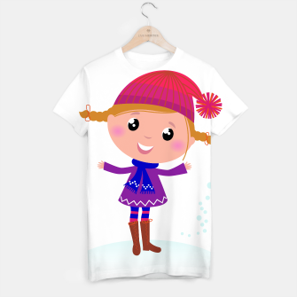 Miniaturka Artistic T-Shirt with Winter manga Girl, Live Heroes