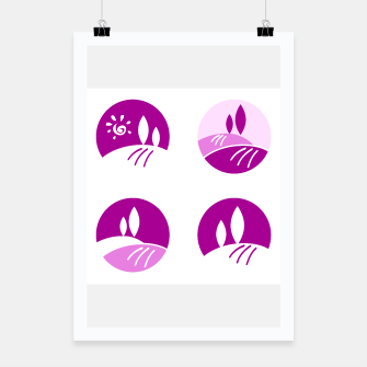Thumbnail image of FRAMED POSTER WITH ITALIA FIELDs PURPLE, Live Heroes
