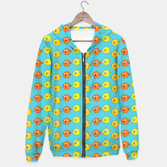 Thumbnail image of Puffer Fish Pattern Hoodie, Live Heroes