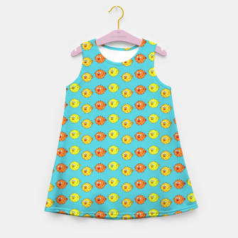 Thumbnail image of Puffer Fish Pattern Girl's Summer Dress, Live Heroes