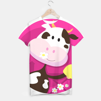 Thumbnail image of T-Shirt with Original art Illustration : COW WITH BELL , Live Heroes