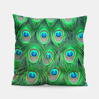 Thumbnail image of Peacock camouflage Pillow, Live Heroes