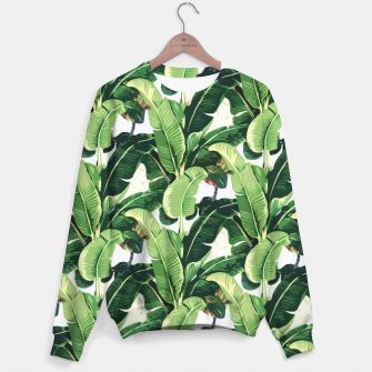 Miniature de image de Banana leaves pattern Sweater, Live Heroes