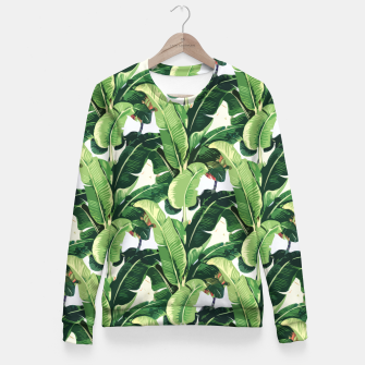 Thumbnail image of Banana leaves pattern Fitted Waist Sweater, Live Heroes