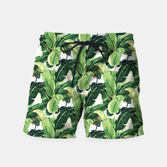 Thumbnail image of Banana leaves pattern Swim Shorts, Live Heroes