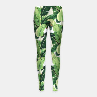 Thumbnail image of Banana leaves pattern Girl's Leggings, Live Heroes
