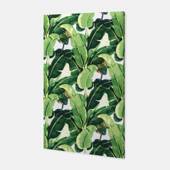 Thumbnail image of Banana leaves pattern Canvas, Live Heroes