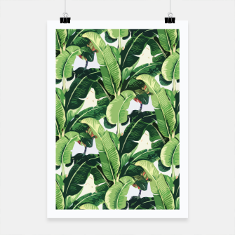 Thumbnail image of Banana leaves pattern Poster, Live Heroes