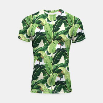 Thumbnail image of Banana leaves pattern Shortsleeve Rashguard, Live Heroes