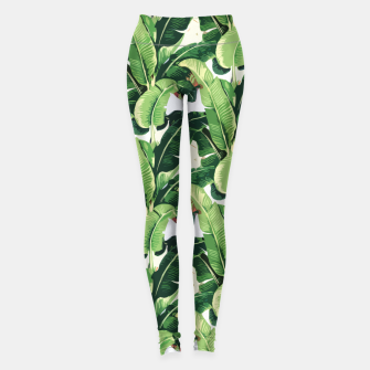 Thumbnail image of Banana leaves pattern Leggings, Live Heroes
