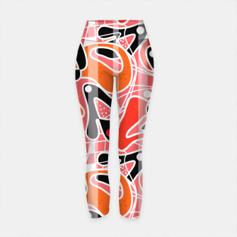 Thumbnail image of Modern abstract print Yoga Pants, Live Heroes