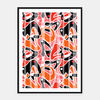 Thumbnail image of Modern abstract print Framed poster, Live Heroes