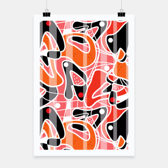 Thumbnail image of Modern abstract print Poster, Live Heroes