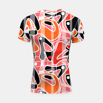 Thumbnail image of Modern abstract print Shortsleeve Rashguard, Live Heroes