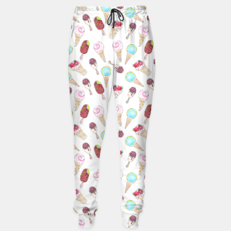 Thumbnail image of Watercolor inked print with ice cream Sweatpants, Live Heroes