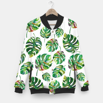 Miniaturka Tropical leaves Baseball Jacket, Live Heroes