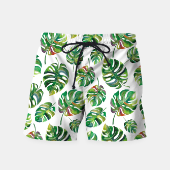 Thumbnail image of Tropical leaves Swim Shorts, Live Heroes