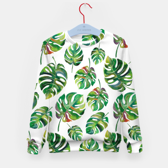 Thumbnail image of Tropical leaves Kid's Sweater, Live Heroes
