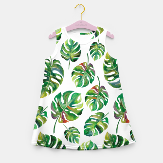 Thumbnail image of Tropical leaves Girl's Summer Dress, Live Heroes